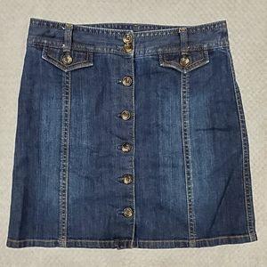 🦋Ann Taylor/ Blue Denim Skirt/ Size 6P